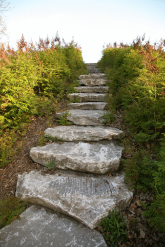 How to Build Stone Landscaping Steps