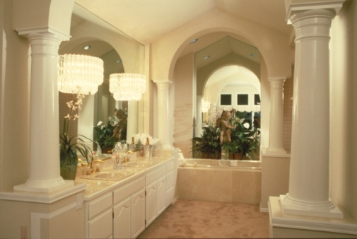 Bathroom Vanity Lights Height typical height of bathroom vanity lights | hunker