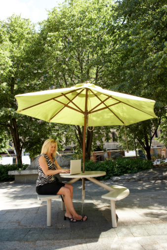 How to Replace the Canopy for an Outdoor Umbrella