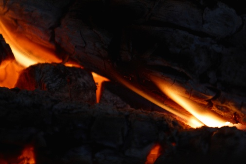 how to clean soot off stone fireplace
