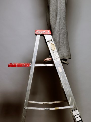How To Use A Step Ladder On Stairs | Hunker