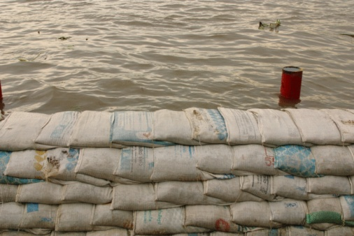 Homemade sandbags for flooding