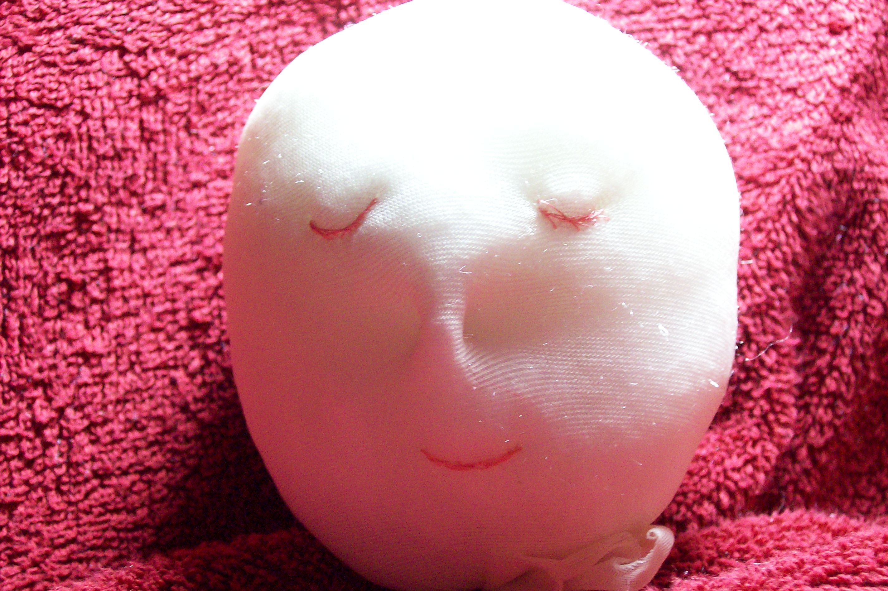 how to make a doll head lamp