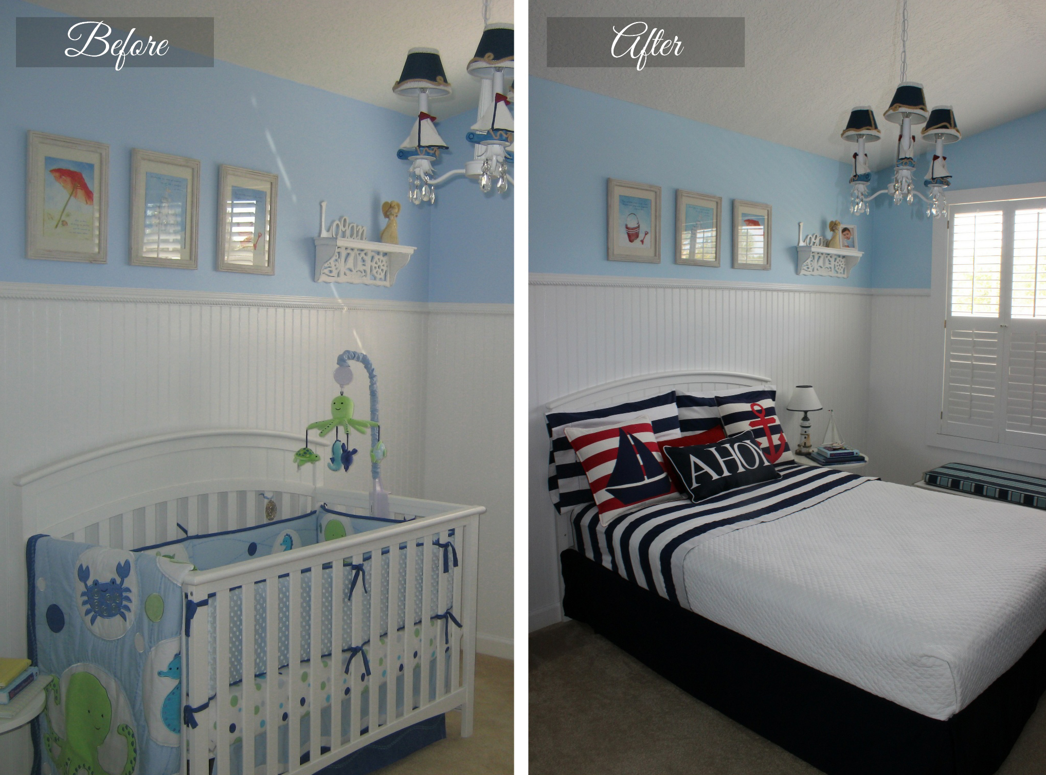 Before & After: Convert a Nursery to Toddler's Room