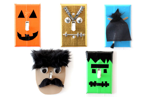 How to Make Halloween-Themed Switch Plates