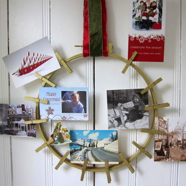 DIY Holiday Card Display