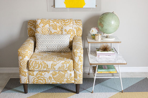 Before & After: A Basic Mid-Century Side Table Gets Dressed Up