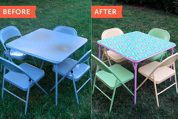 Before & After: Refinishing a Folding Card Table