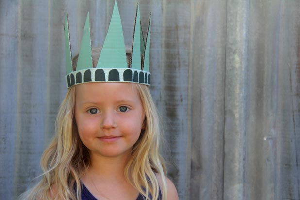 DIY Statue of Liberty Party Hat for Kids