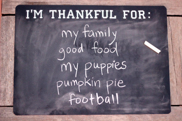 Set a Tone of Gratitude on Thanksgiving with Charming Chalkboard Placemats
