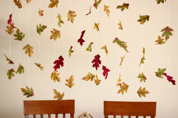 How to Make Garlands of Falling Leaves