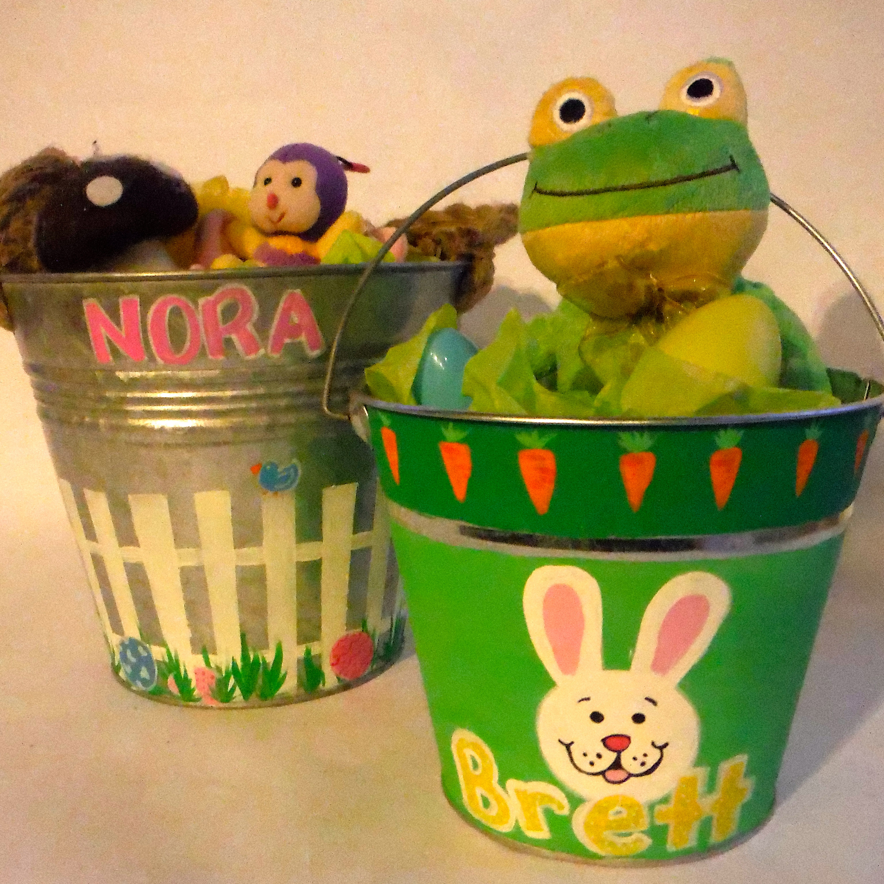 Painted Garden Pail Easter Basket