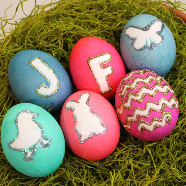 Egg Decorating Ideas: Monograms and Silhouettes