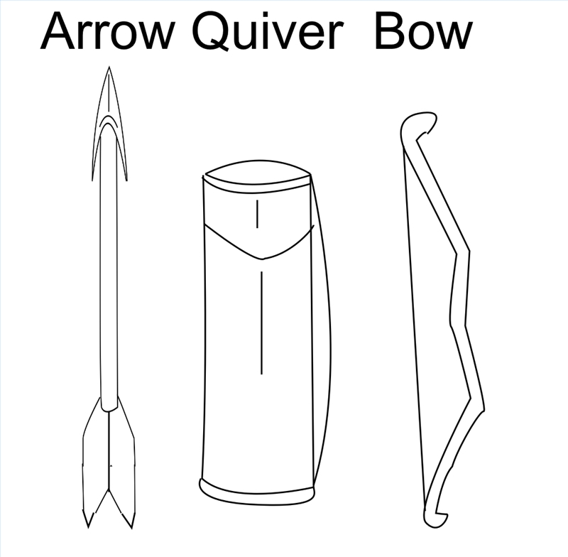 How to make an arrow quiver ehow for Bow and arrow coloring pages