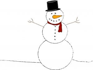 how to make a snowman out of styrofoam