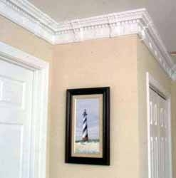 About peel stick crown molding ehow for Miterless crown moulding