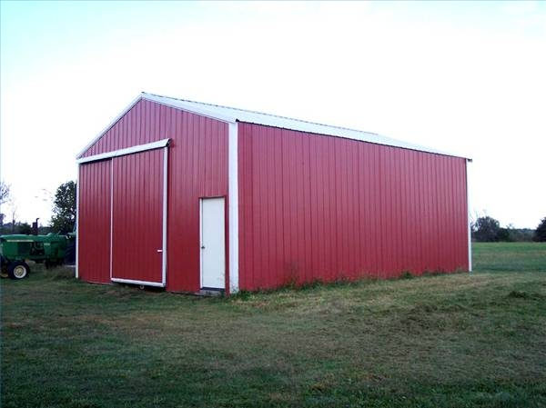How to build an open pole shed ehow for How to build a small pole barn