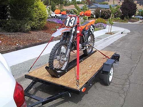 How To Strap Down A Motorcycle To A Trailer It Still