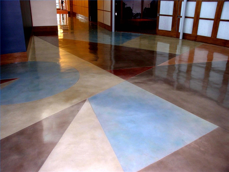 How to stain an interior concrete floor ehow How to stain interior concrete