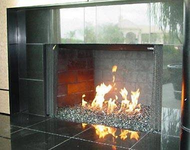 how to clean wood heater glass