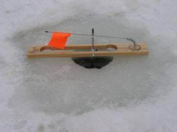 How to build an ice fishing tip up gone outdoors your for Ice fishing tip up parts