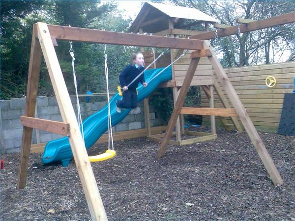 How to build an a frame swing set ehow for How to build a frame swing structure