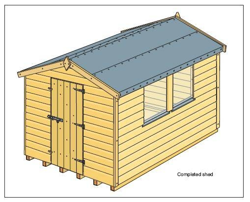 How to build a small storage shed ehow for Small lawnmower shed