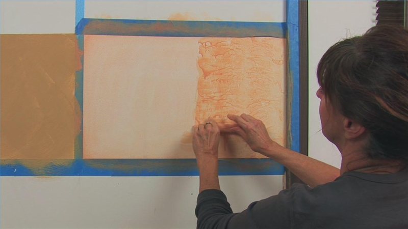 Video how to do faux paint finishes ehow for Rag rolling painting ideas