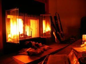 how to clean the glass door of a wood stove with pictures