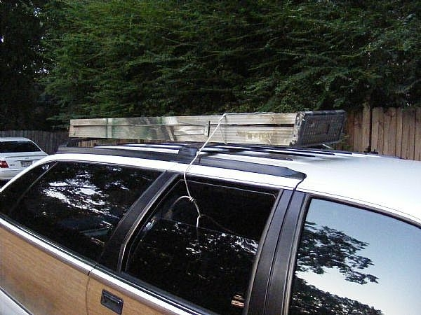 How To Tie A Ladder On The Roof Of A Car It Still Runs