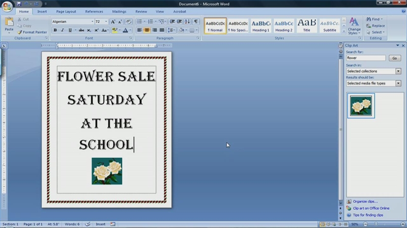 How to Make a Flyer on Microsoft Word 2007 | eHow