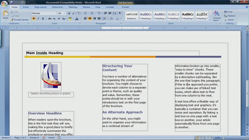 How to Make a Brochure in Microsoft Word for Mac | eHow