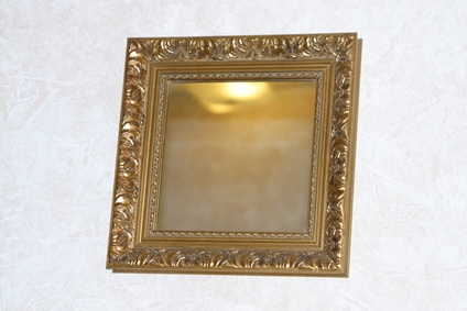 How to attach wood frame to mirror