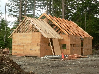 How to build a wood frame cabin ehow for How to build an a frame cabin