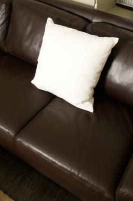 how to clean leather couch smell