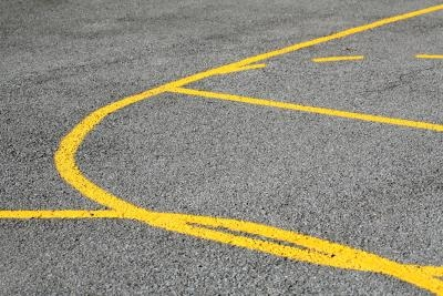 How to paint lines on concrete ehow for Making a basketball court