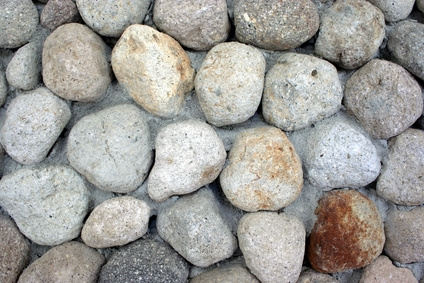 how to build a river rock wall