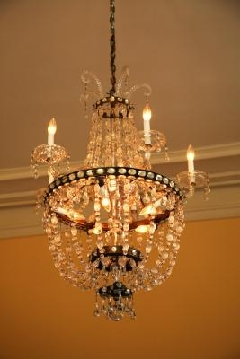 How to add crystal prisms to chandeliers ehow - Building a chandelier ...