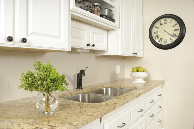The best granite colors for white cabinets with pictures for What color countertops with white cabinets