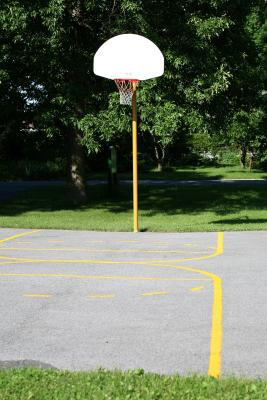 how to build a backyard basketball court ehow. Black Bedroom Furniture Sets. Home Design Ideas