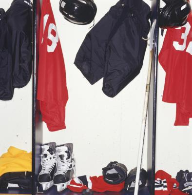 How to make a hockey stick coat rack ehow for Gear shift coat rack