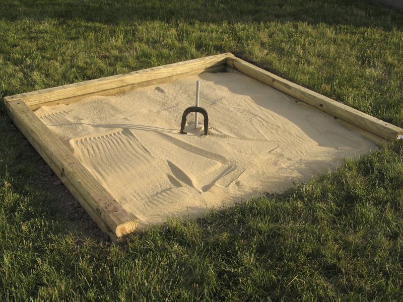 how to make a backyard horse shoe area ehow