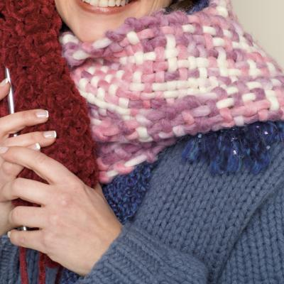 How to Knit an Easy Cowl Neck Scarf eHow