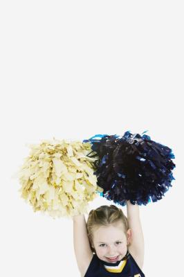 how to make homemade cheerleader pom poms
