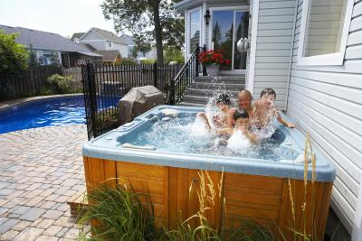 how to plumb a hot tub ehow. Black Bedroom Furniture Sets. Home Design Ideas