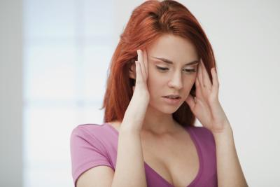 woman with scalp pain