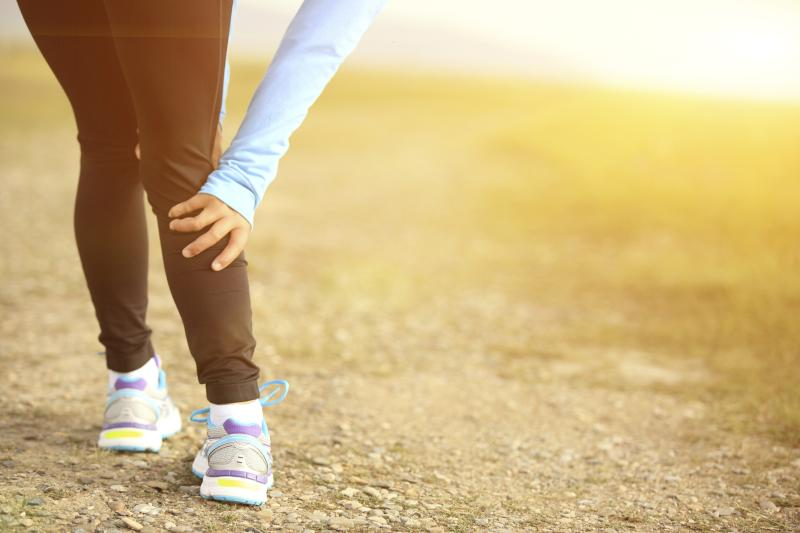 A runner is experiencing calf pain.