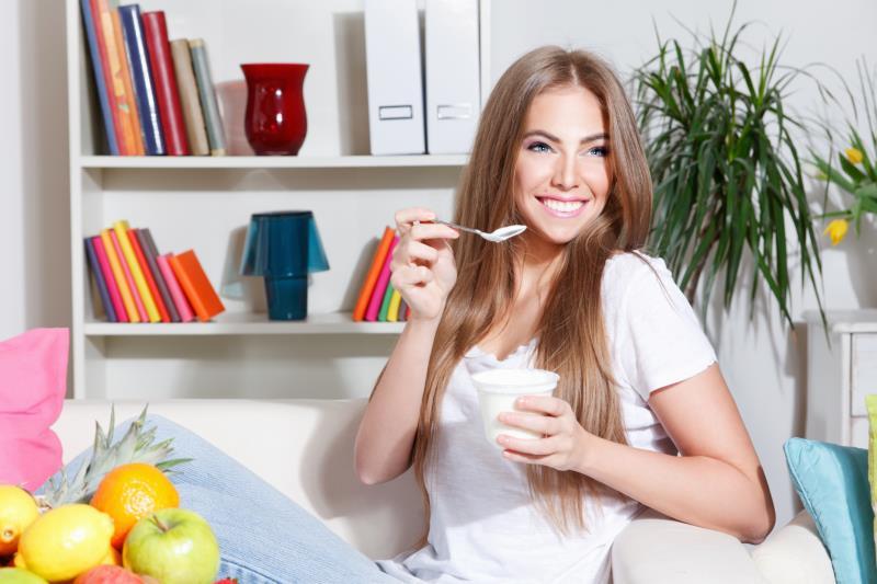 Image result for a girl 3. Eat yogurt