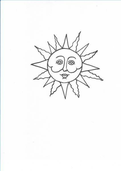How To Draw Sun Faces
