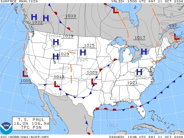 Five Different Types of Weather Maps | Sciencing